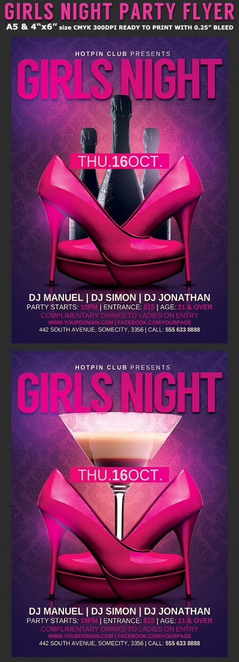 girls-bachelorette-night-flyer-template-preview